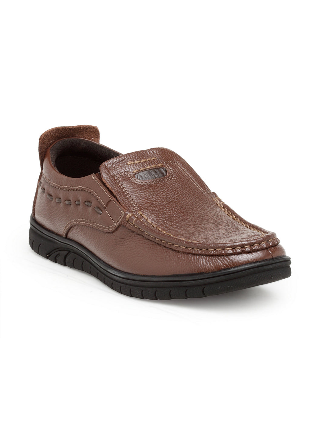 Teakwood Leathers Men's Brown Casual Slip-On Shoes