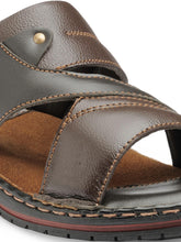 Load image into Gallery viewer, Teakwood Men's Leather Outdoor Slippers & Sandals Footwear