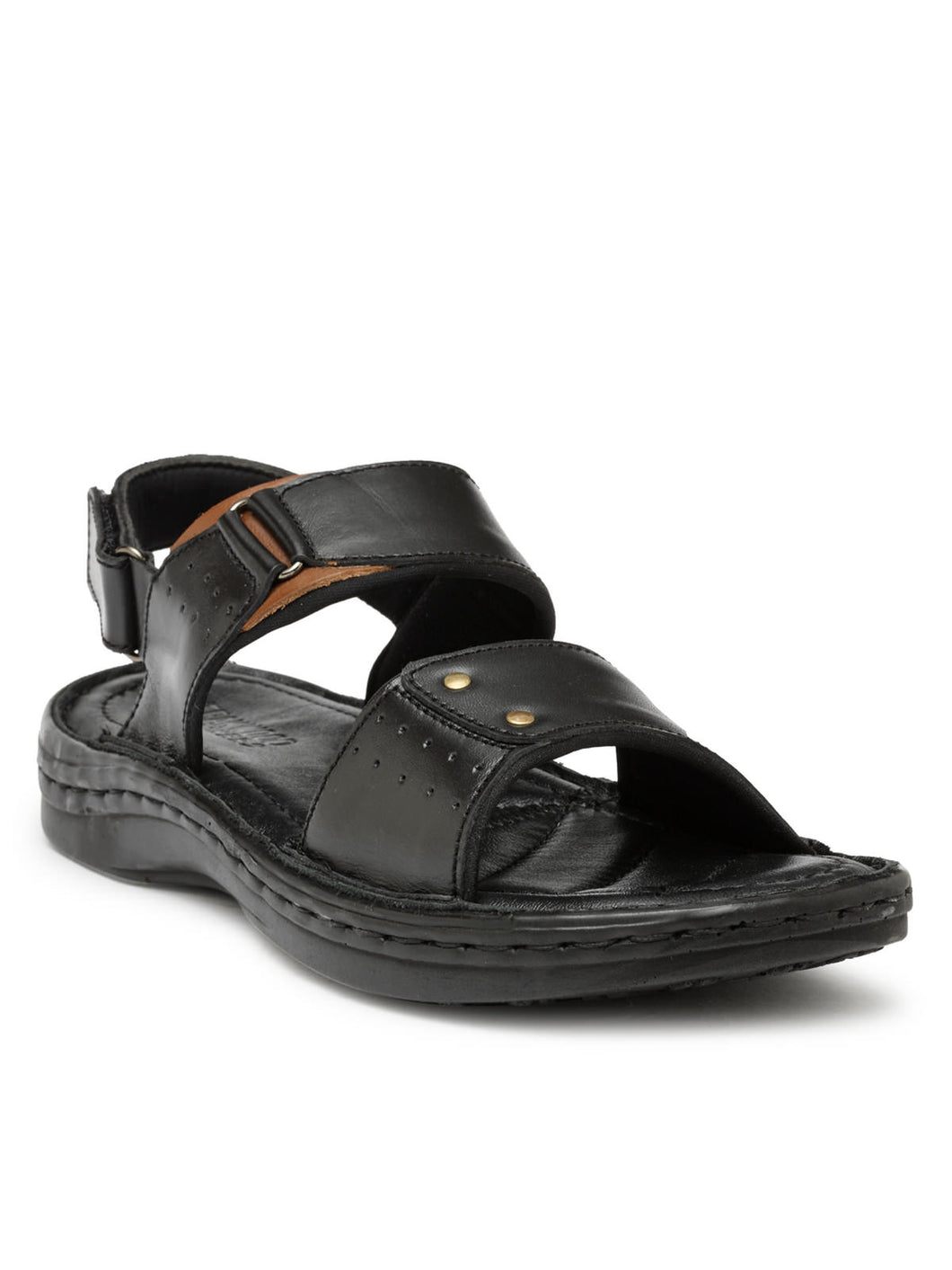 Teakwood Black Daily Wear Sandals