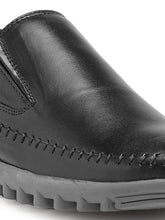 Load image into Gallery viewer, Teakwood Genuine Leather Black Loafers