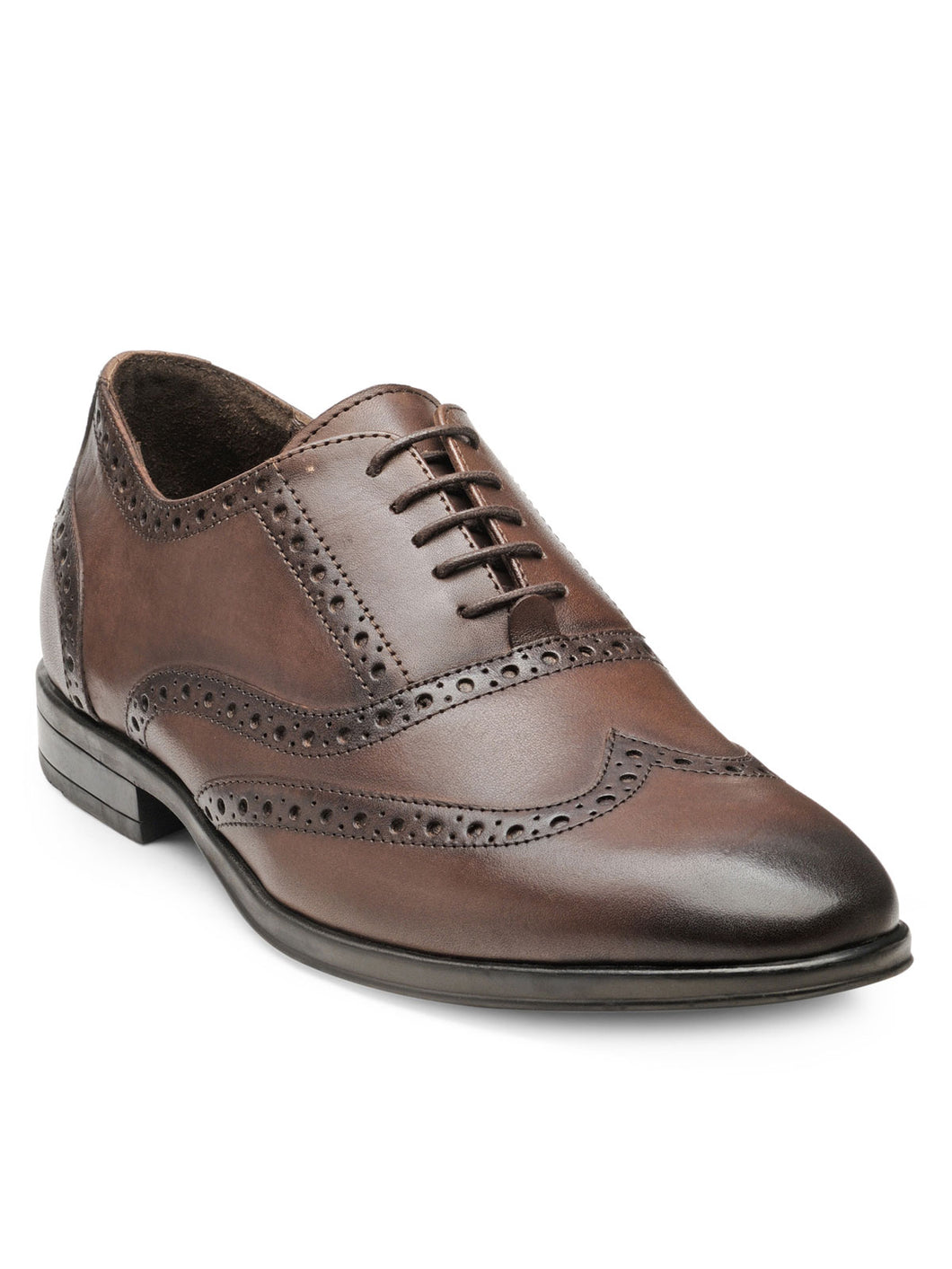 Teakwood Leather Men's Brown Oxford/Brogue Shoes