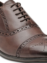 Load image into Gallery viewer, Teakwood Leather Men's Brown Oxford/Brogue Shoes