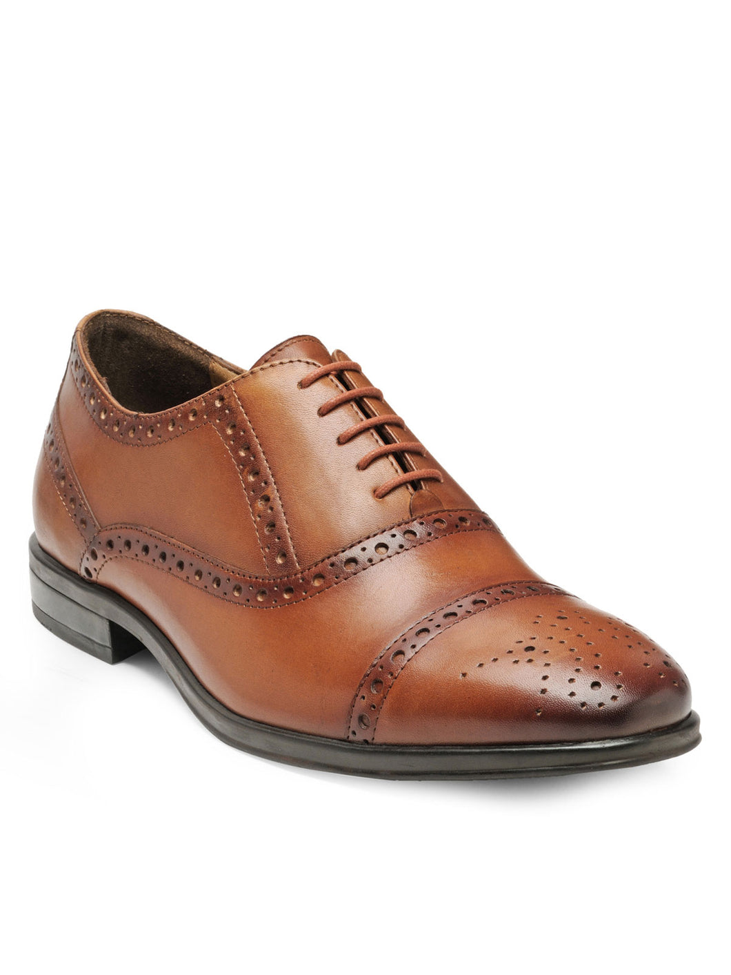 Teakwood Leather Men's Tan Oxford/Brogue Shoes