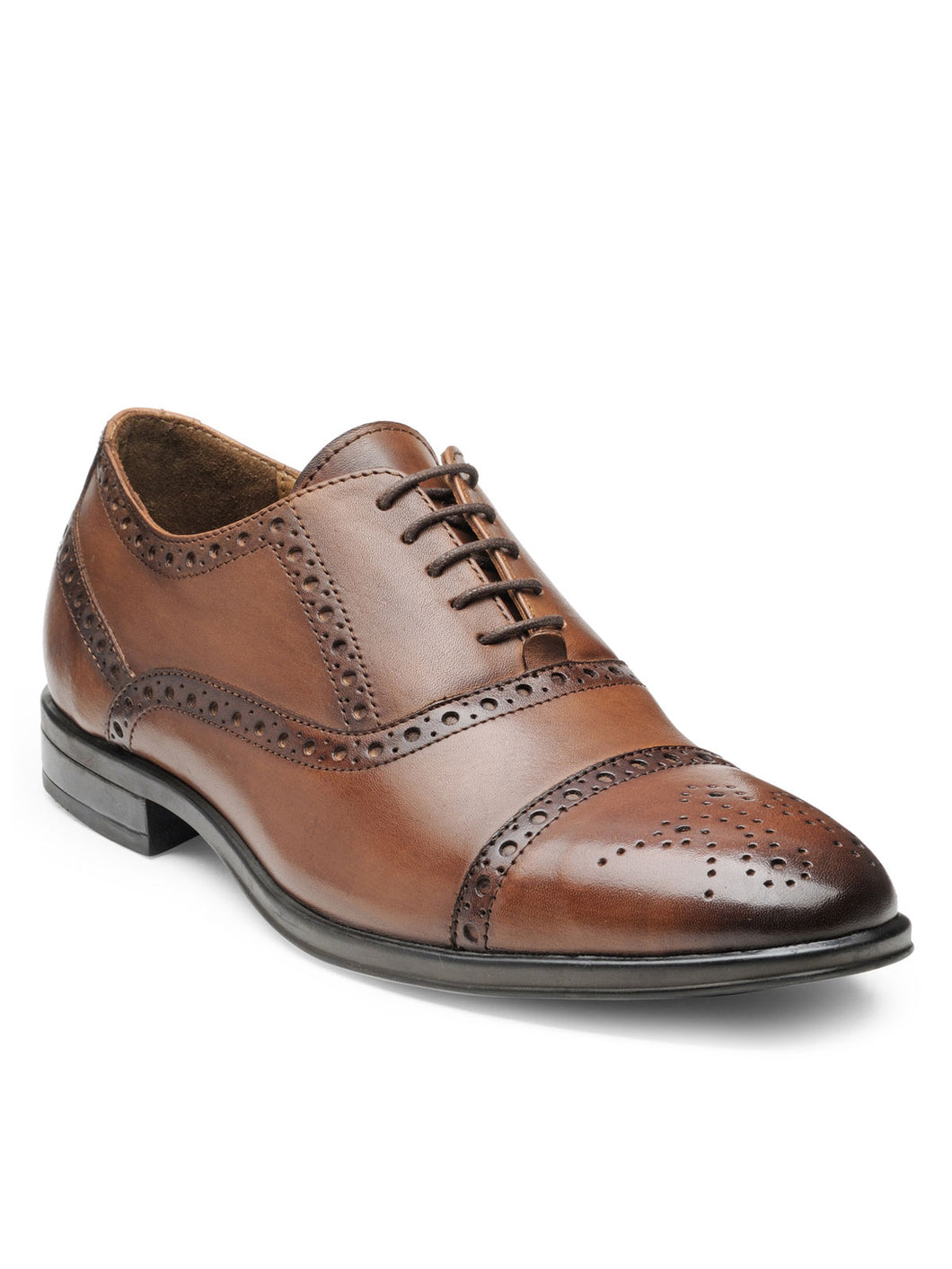 Teakwood Leather Men's Wood Oxford/Brogue Shoes