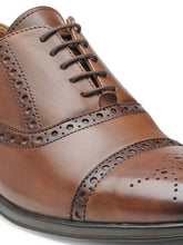 Load image into Gallery viewer, Teakwood Leather Men's Wood Oxford/Brogue Shoes