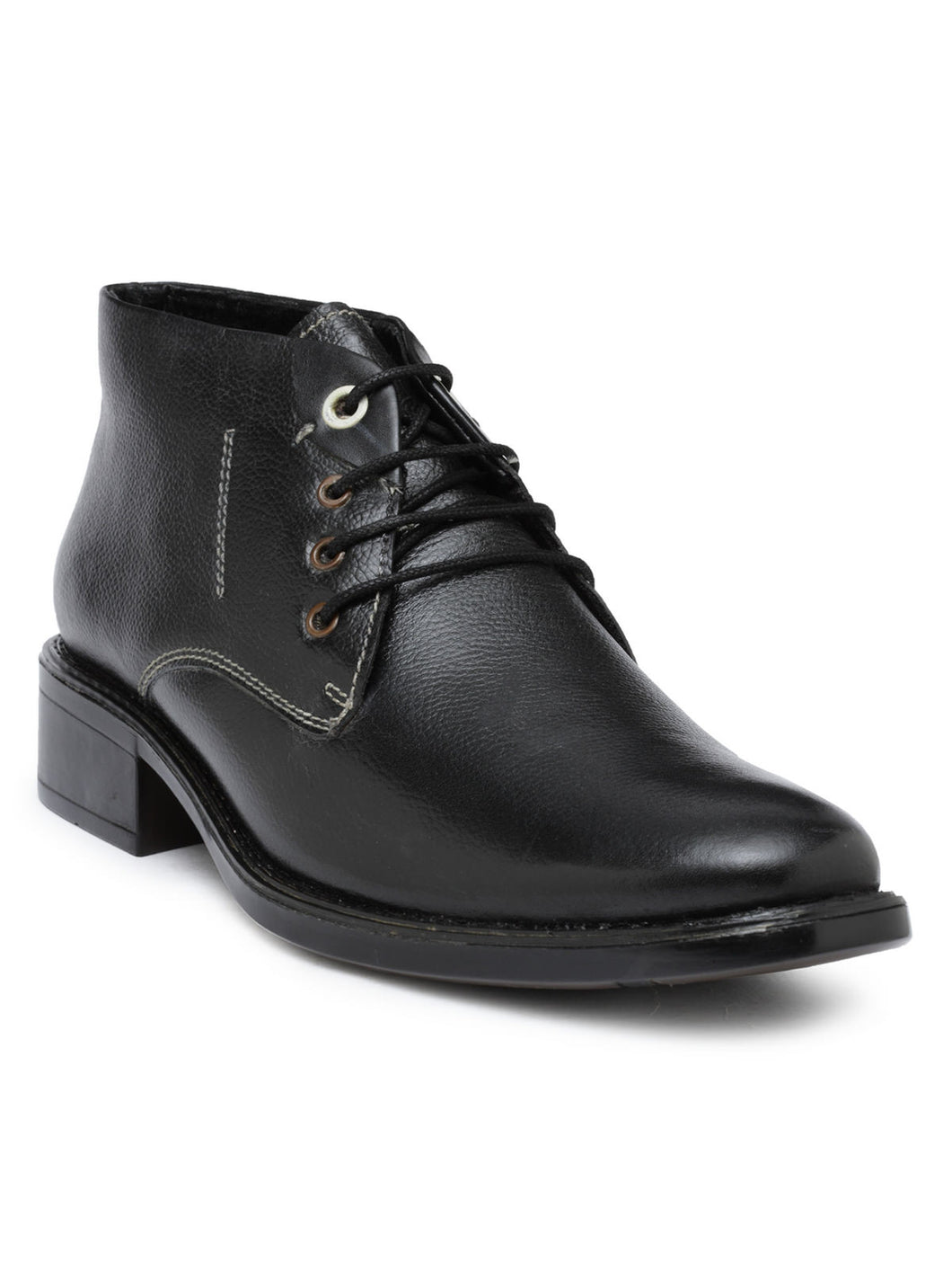Teakwood Leather Black Casual Shoes