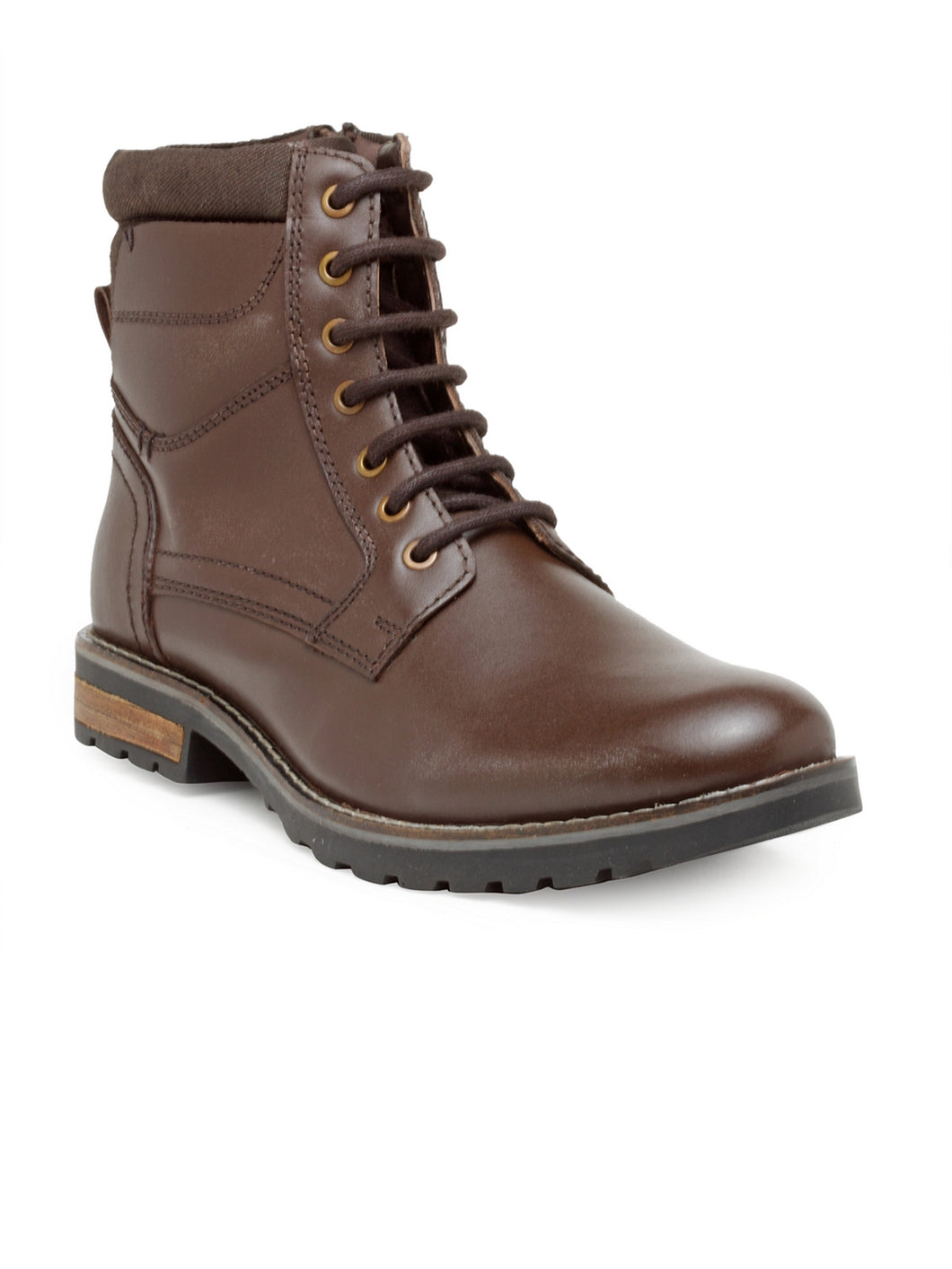 Teakwood Leathers Men's Brown Casual Ankle Lace-Up Boots