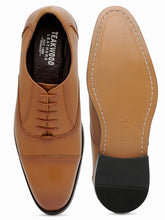 Load image into Gallery viewer, Teakwood Leather Men's Tan Oxford/Brogue Shoes