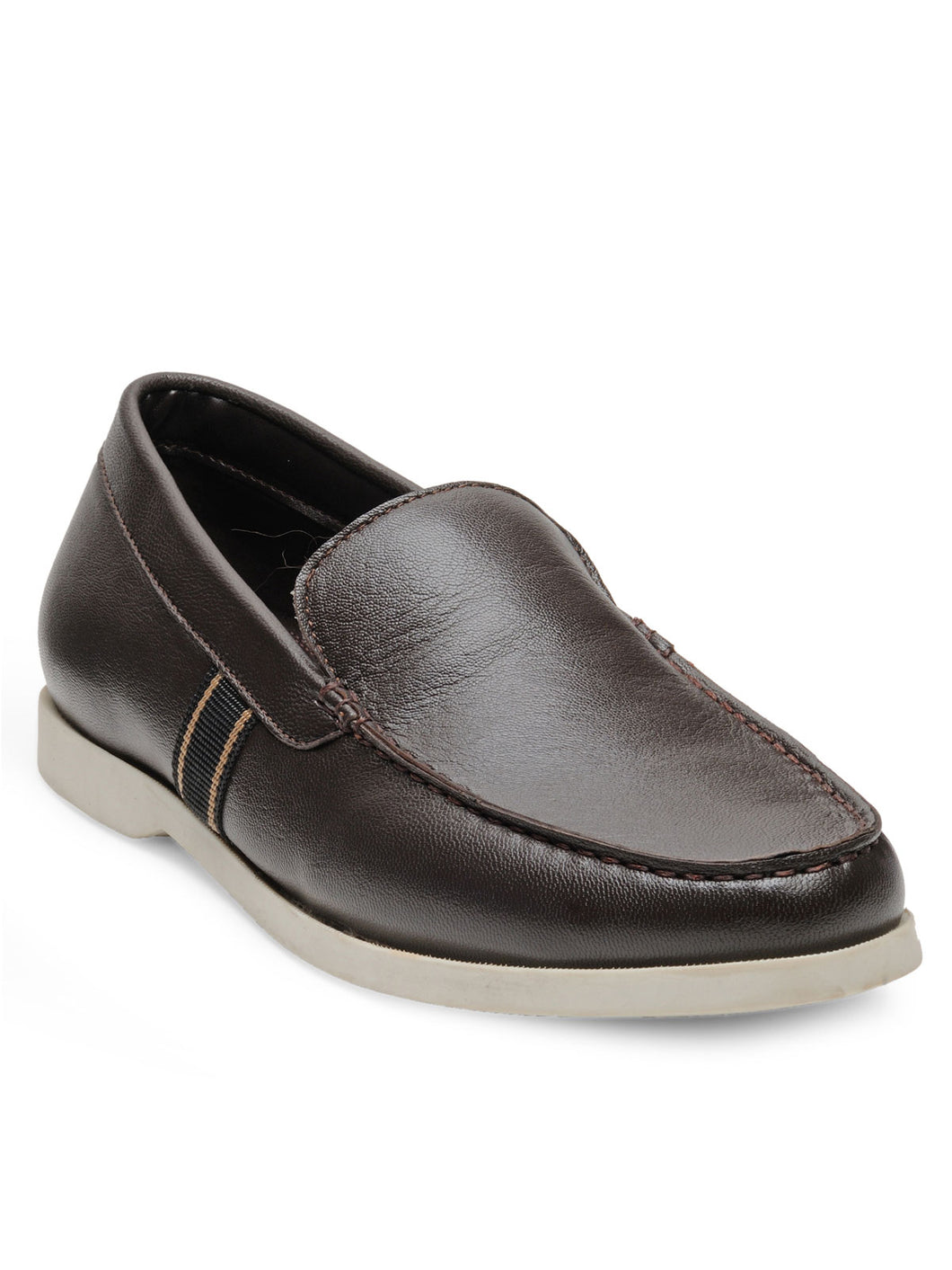 Teakwood Leather Men's Brown Slip-ons Shoes