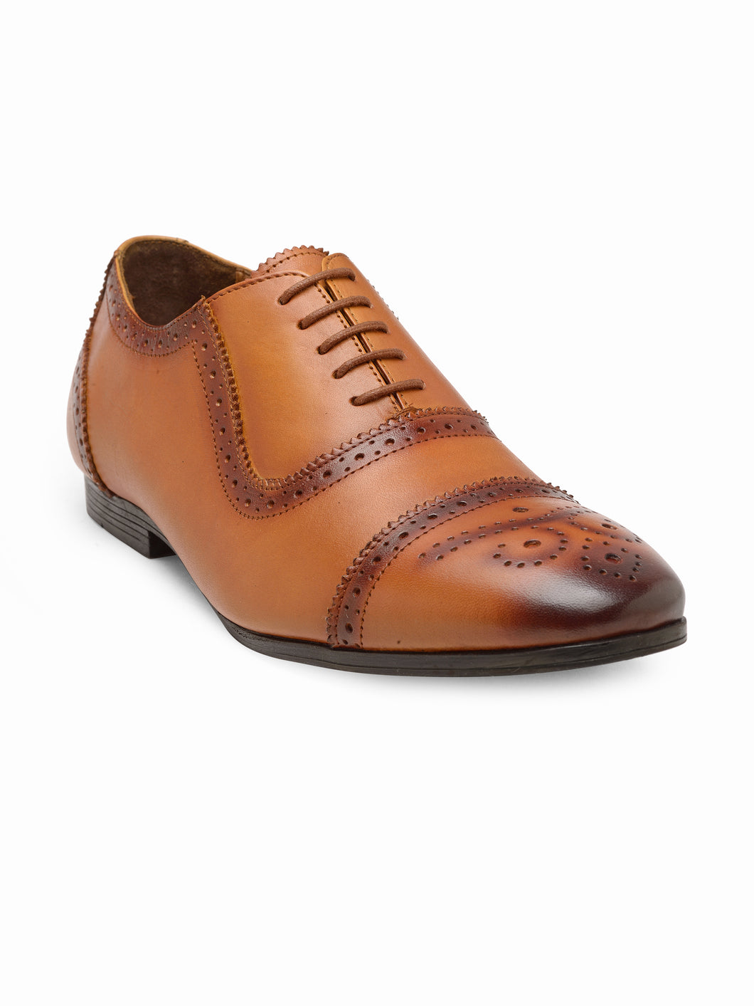 Teakwood Genuine Leathers Men Tan  Formal Oxfords Shoes