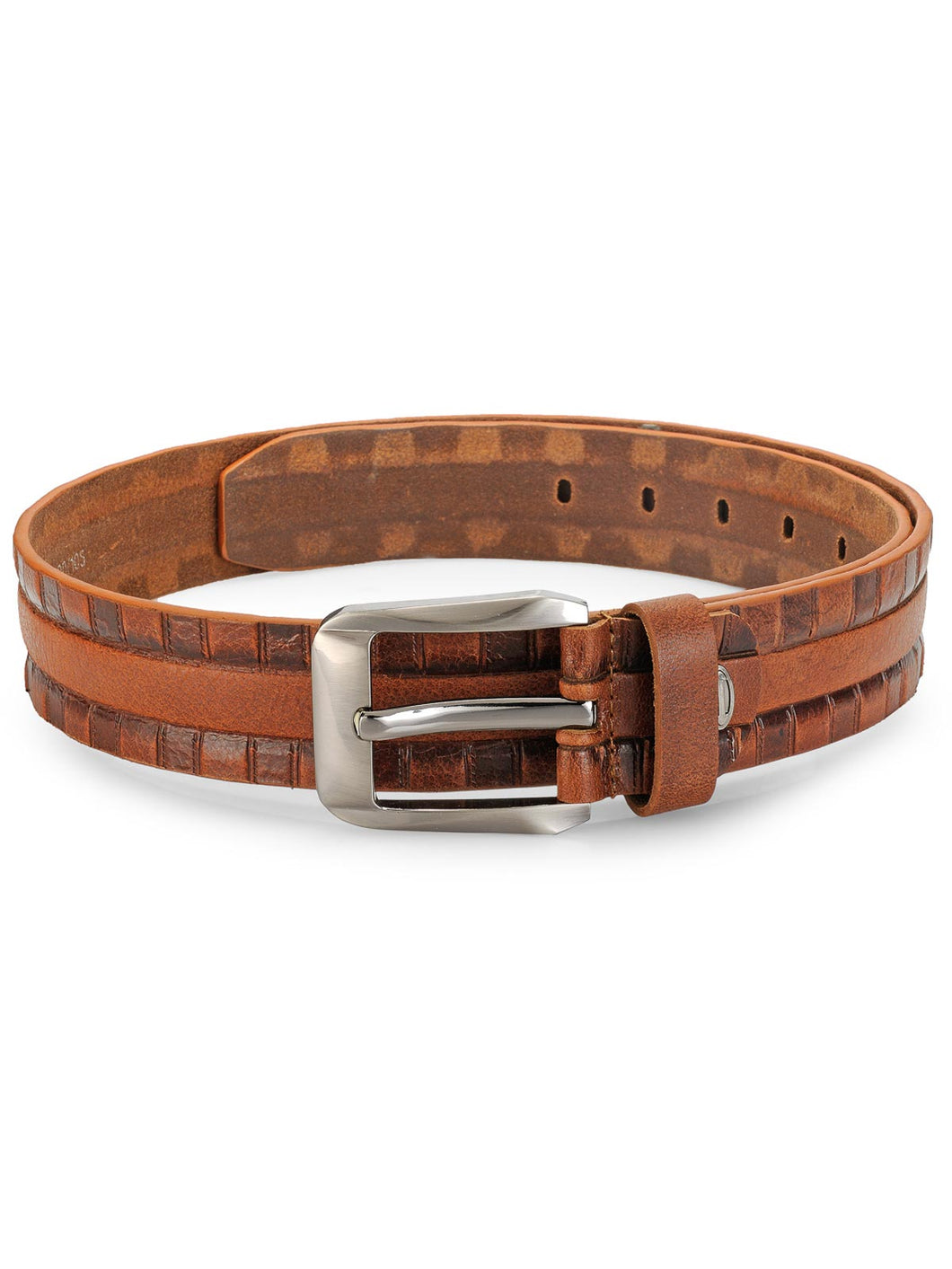 Teakwood Leathers Men Tan Brown Genuine Leather Belt