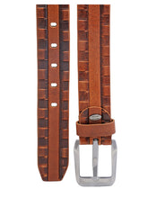 Load image into Gallery viewer, Teakwood Leathers Men Tan Brown Genuine Leather Belt