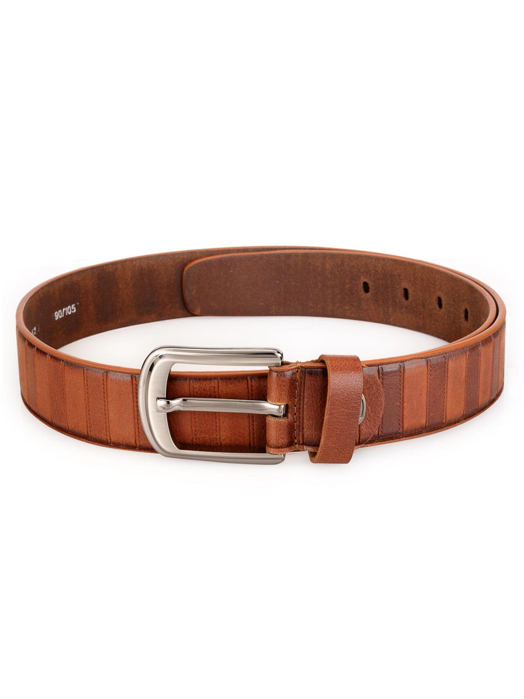 Teakwood Leathers Men Brown Genuine Leather Belt