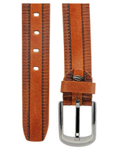 Load image into Gallery viewer, Teakwood Leathers Men Tan Brown Leather Belt