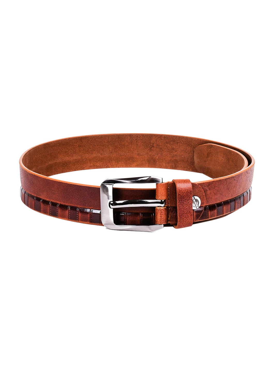 Teakwood Leathers Men Tan Brown Leather Belt