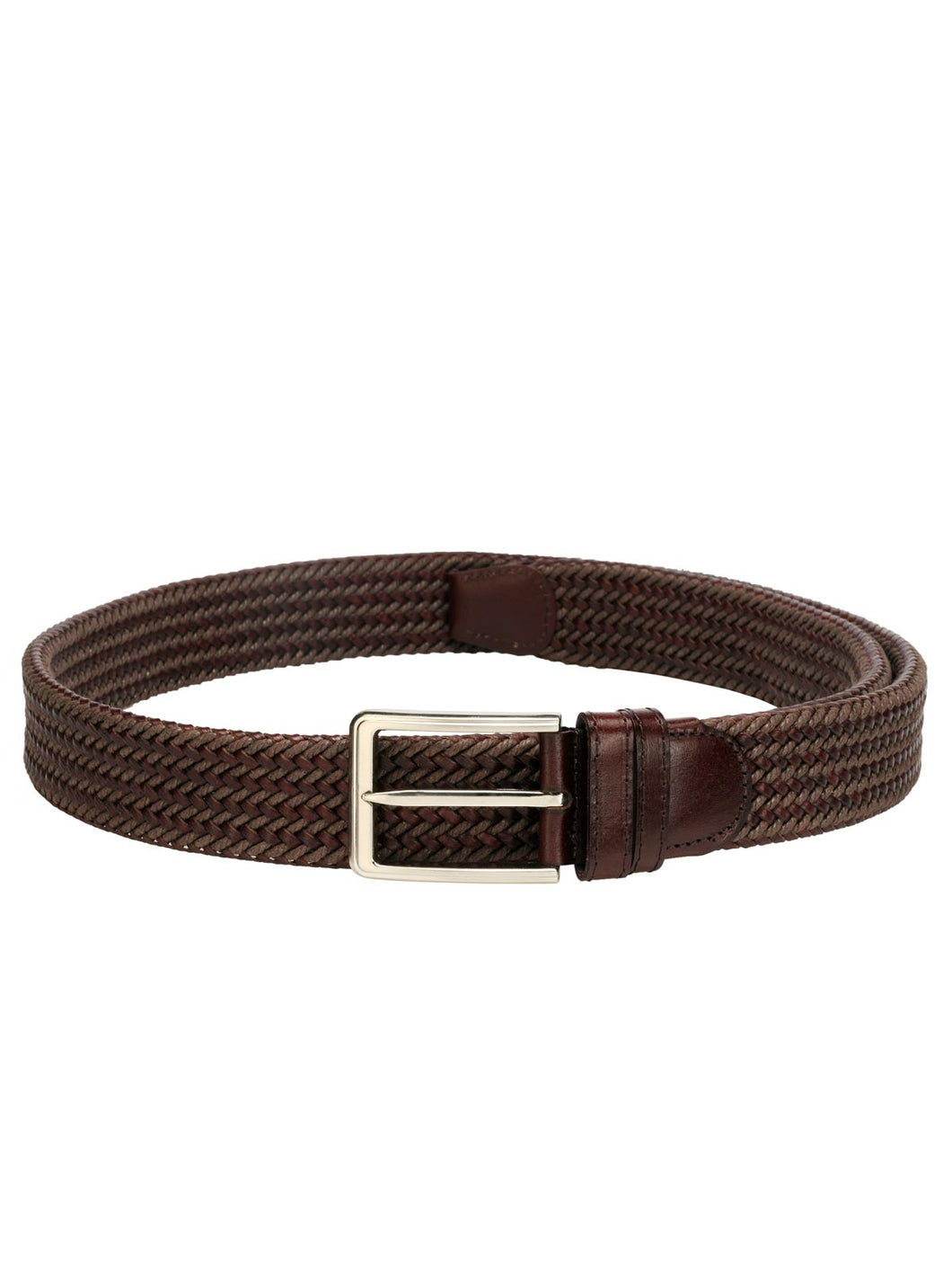 Teakwood Men Brown Leather Reversible Belt