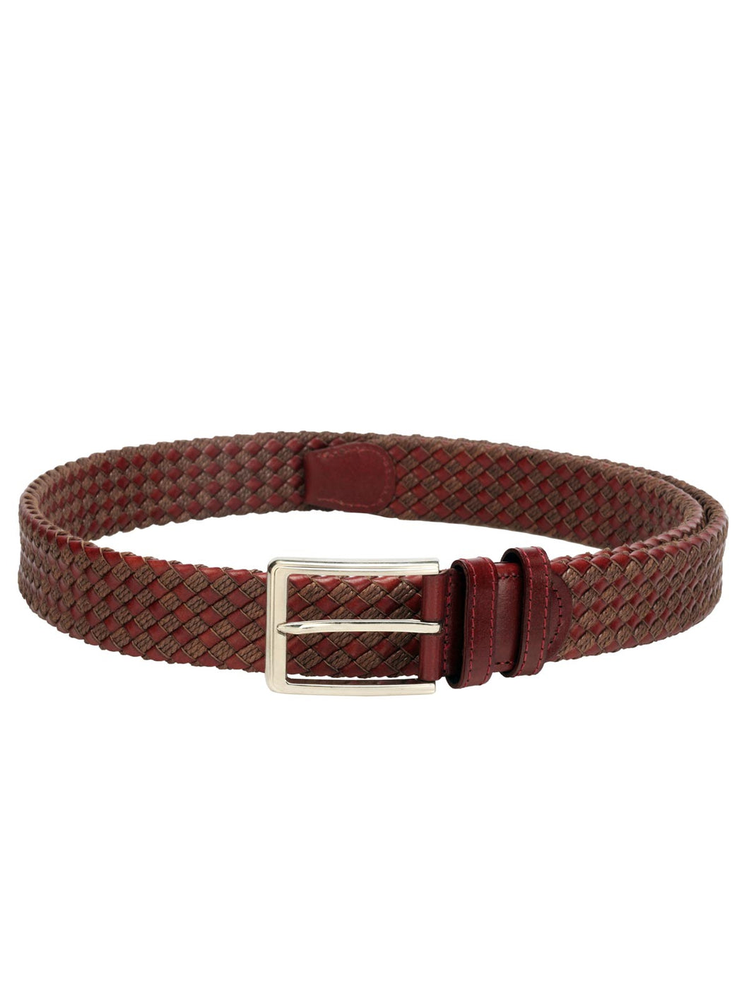 Teakwood Men Maroon Leather Reversible Belt