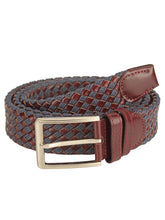 Load image into Gallery viewer, Teakwood Men Brown Leather Reversible Belt