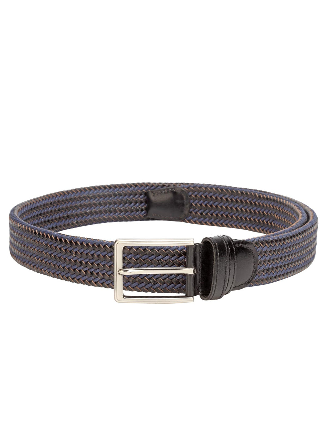 Teakwood Men Black Leather Reversible Belt