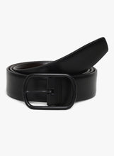 Load image into Gallery viewer, GENUINE LEATHER BLACK BELT