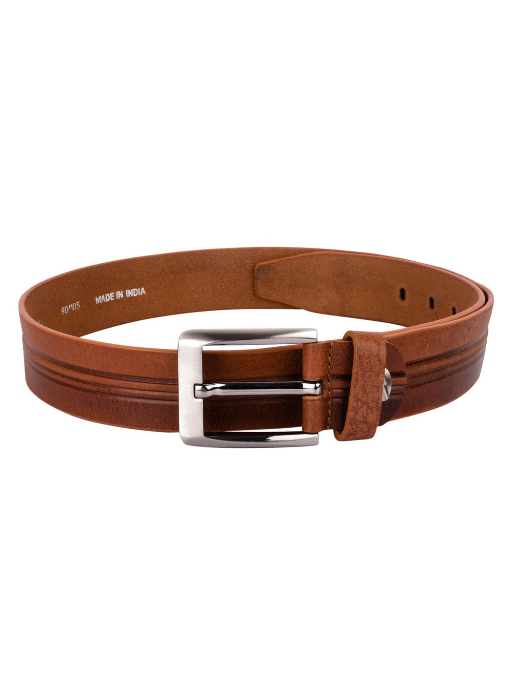 Teakwood Leathers Men Brown Leather Belt