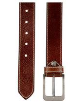 Load image into Gallery viewer, Teakwood Leathers Men Brown Leather Belt