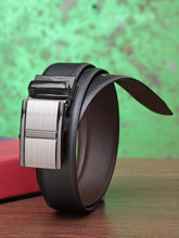 Load image into Gallery viewer, Teakwood Men Genuine Leather Black & Brown Solid Reversible Belt