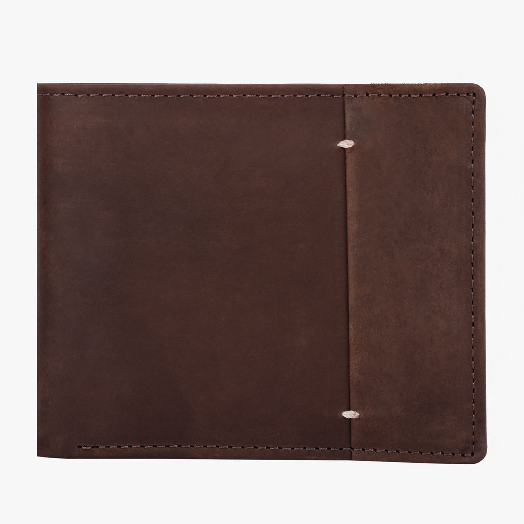 Teakwood Men Genuine Leather Brown Colour Two Fold Wallet
