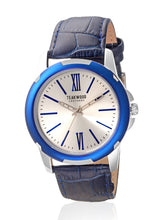 Load image into Gallery viewer, Teakwood leather Blue Men Analog Watch