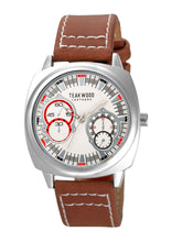 Load image into Gallery viewer, Teakwood Leather White Men's Analog Watch