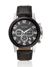 Load image into Gallery viewer, Teakwood Leather Black Men's Analog Watch