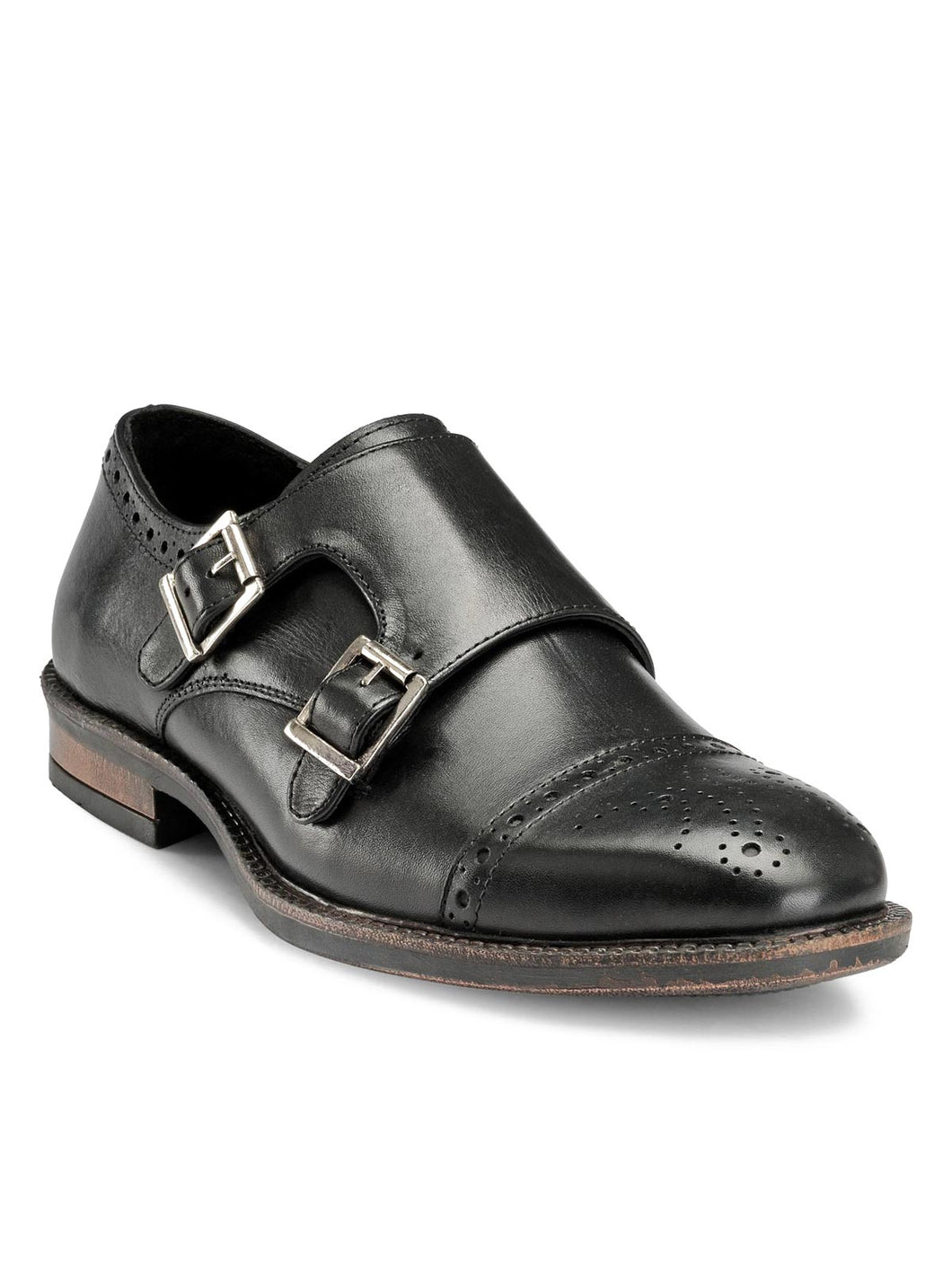 Teakwood Genuine Leather Monk Shoes