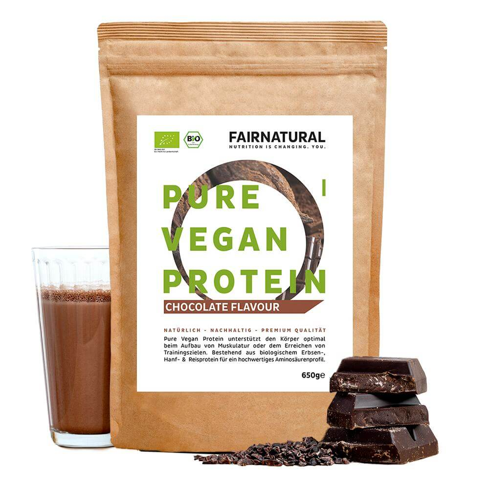 Load the picture into the gallery viewer, Vegan protein powder chocolate