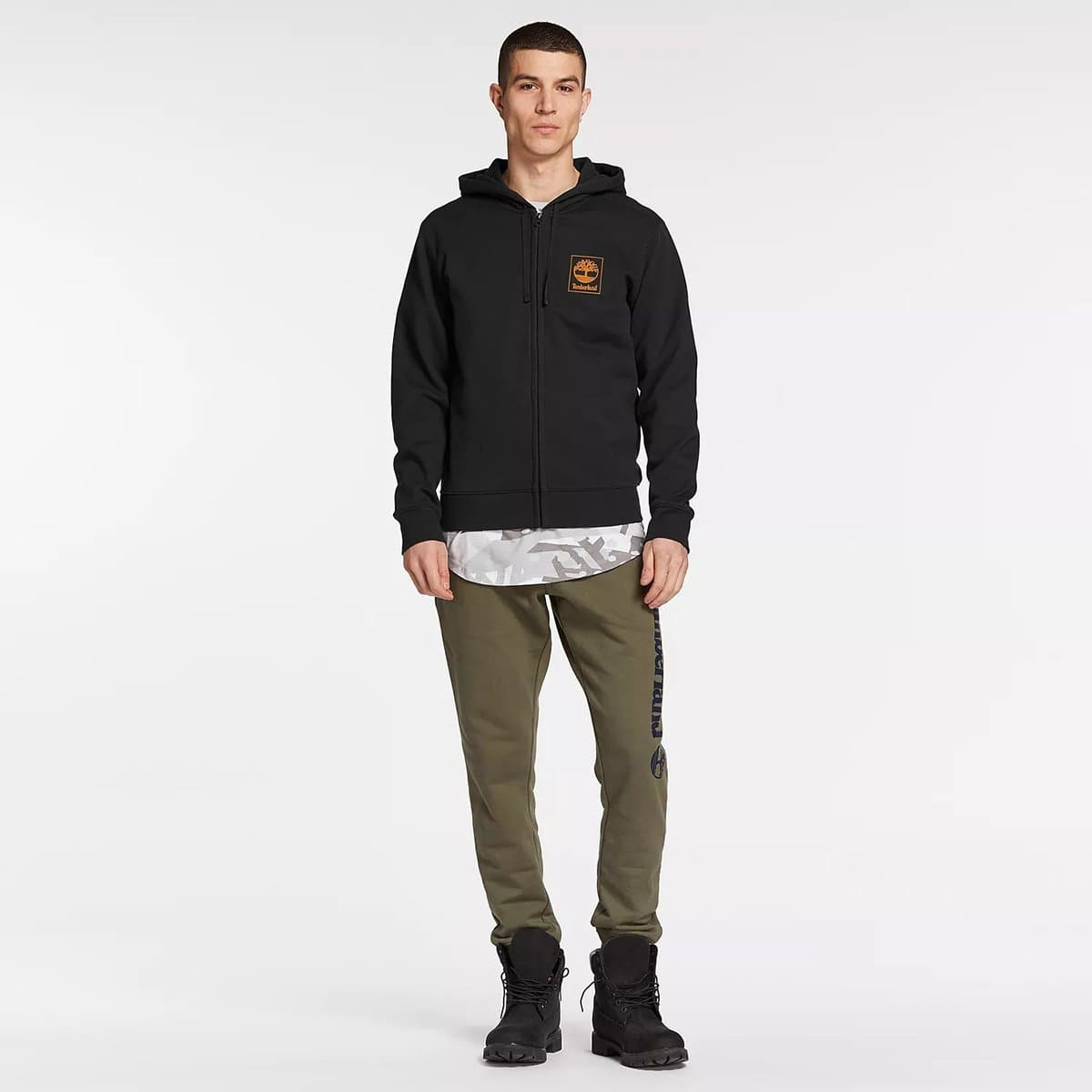 M Top | SLS zip hoodie seasonal Black/,FQ