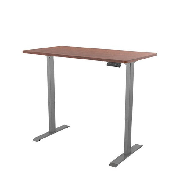 ergonomic height adjustable standing desk - brown