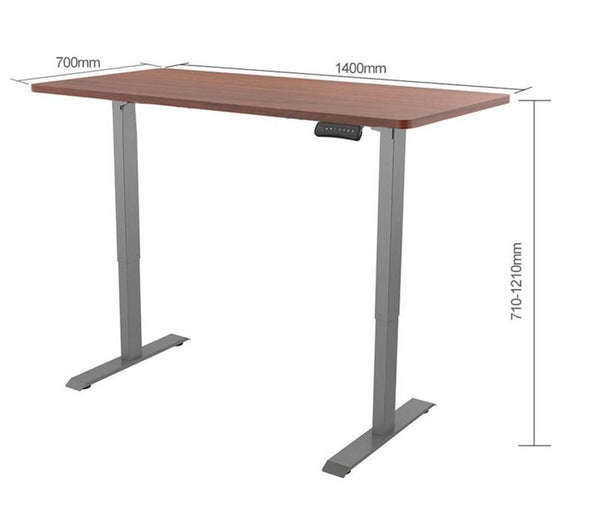 ergonomic height adjustable standing desk dimensions: 650mm x 710-1210mm x 850-1290mm