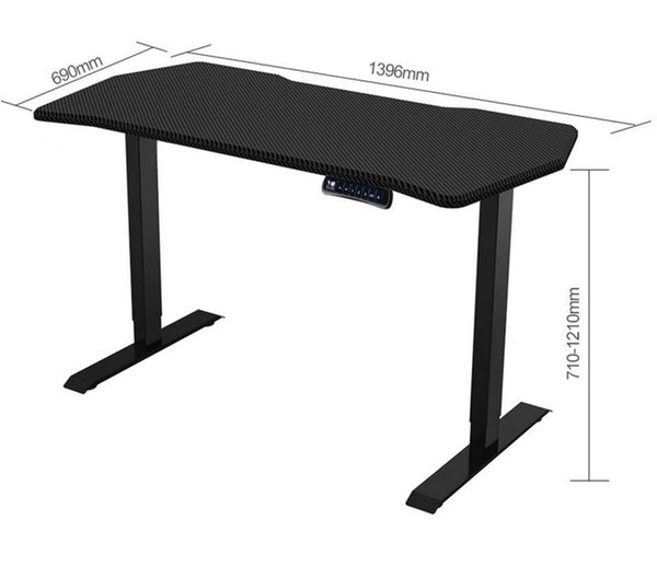 ergonomic height adjustable standing desk dimensions: 690mm x 710-1210mm x 1396mm