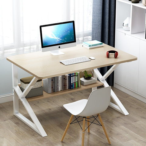 premium office desk - light oak