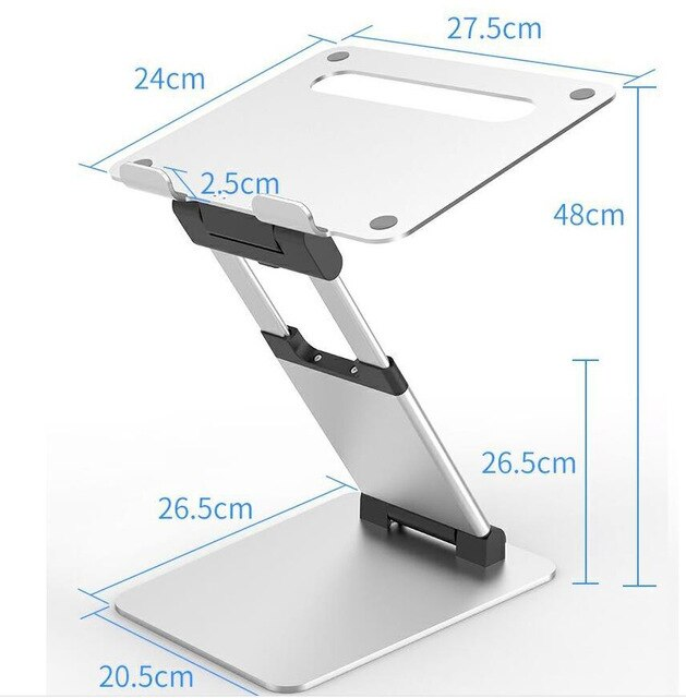 height adjustable laptop stand - standing desk with dimensions