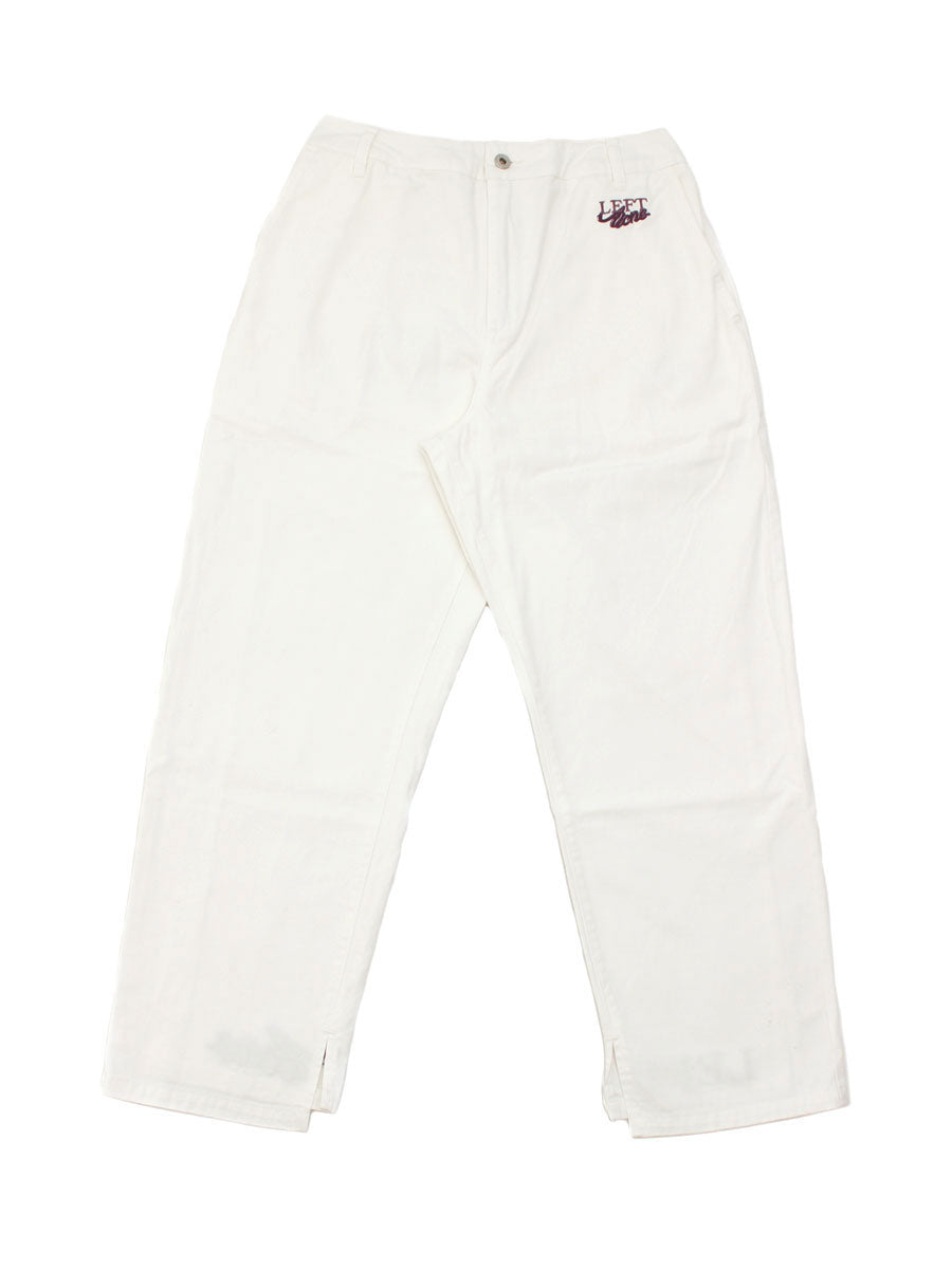 SLIT LINE PANTS -WHITE-