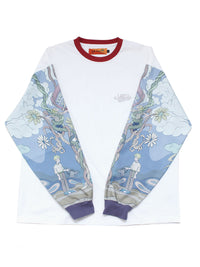 VINE WIN L/S TEE -WHITE-