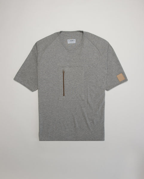STEEL DUST II - RAGLAN ZIP T-SHIRT