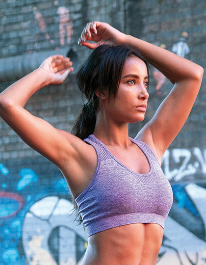 HD Seamless Crop Top Sport Bra - Ladies
