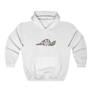 Sea Turtle Light Hooded Sweatshirt