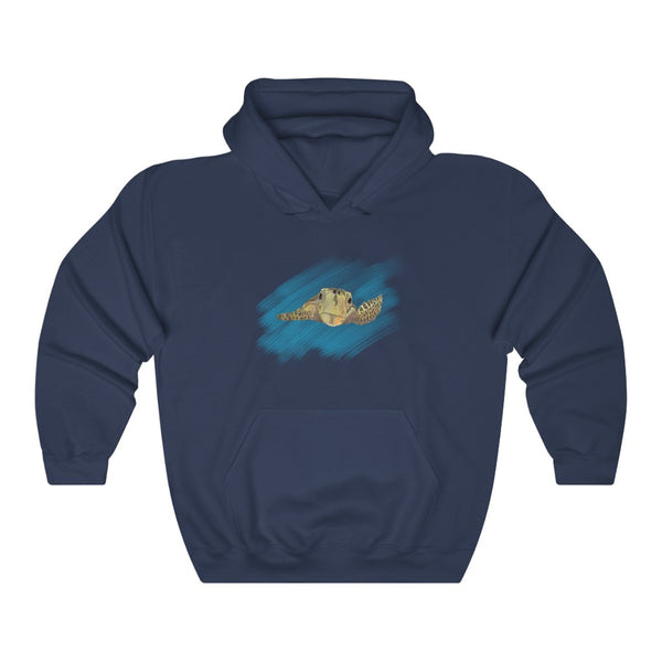 Sea Turtle Dark Hooded Sweatshirt