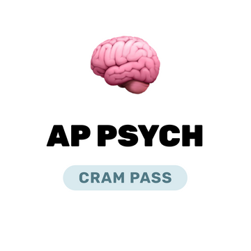 🌶 AP Psychology Cram Pass Spring 2021