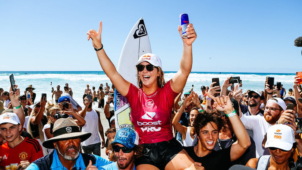 Caroline Marks (USA) Wins 2019 Boost Mobile Pro Gold Coast. Photo © WSL / Cestari.