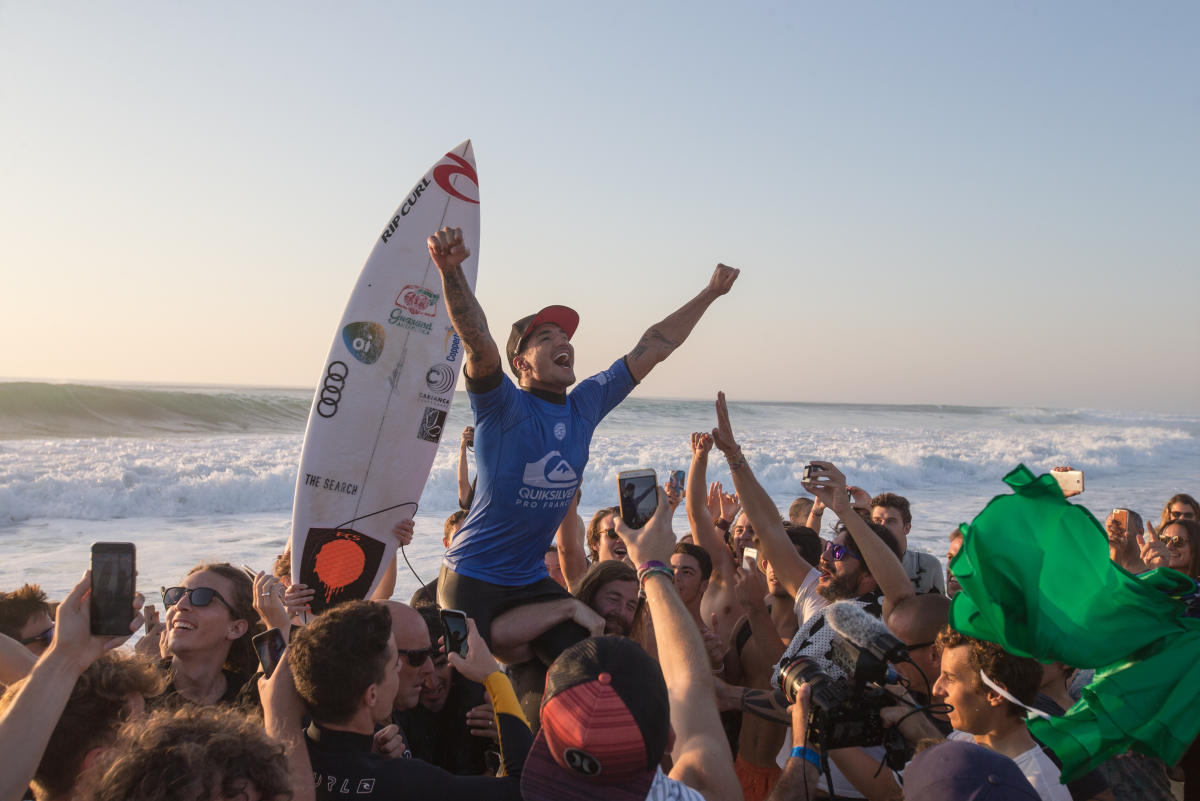 Gabriel Medina Wins Quiksilver Pro France 2017. Photo © WSL / Laurent Masurel