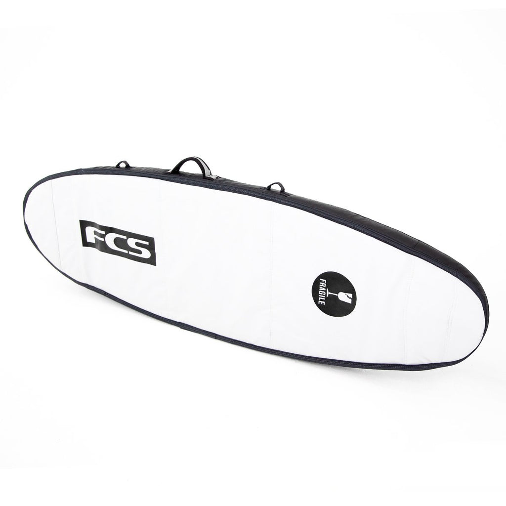 FCS Travel 2 Funboard Cover Black Back