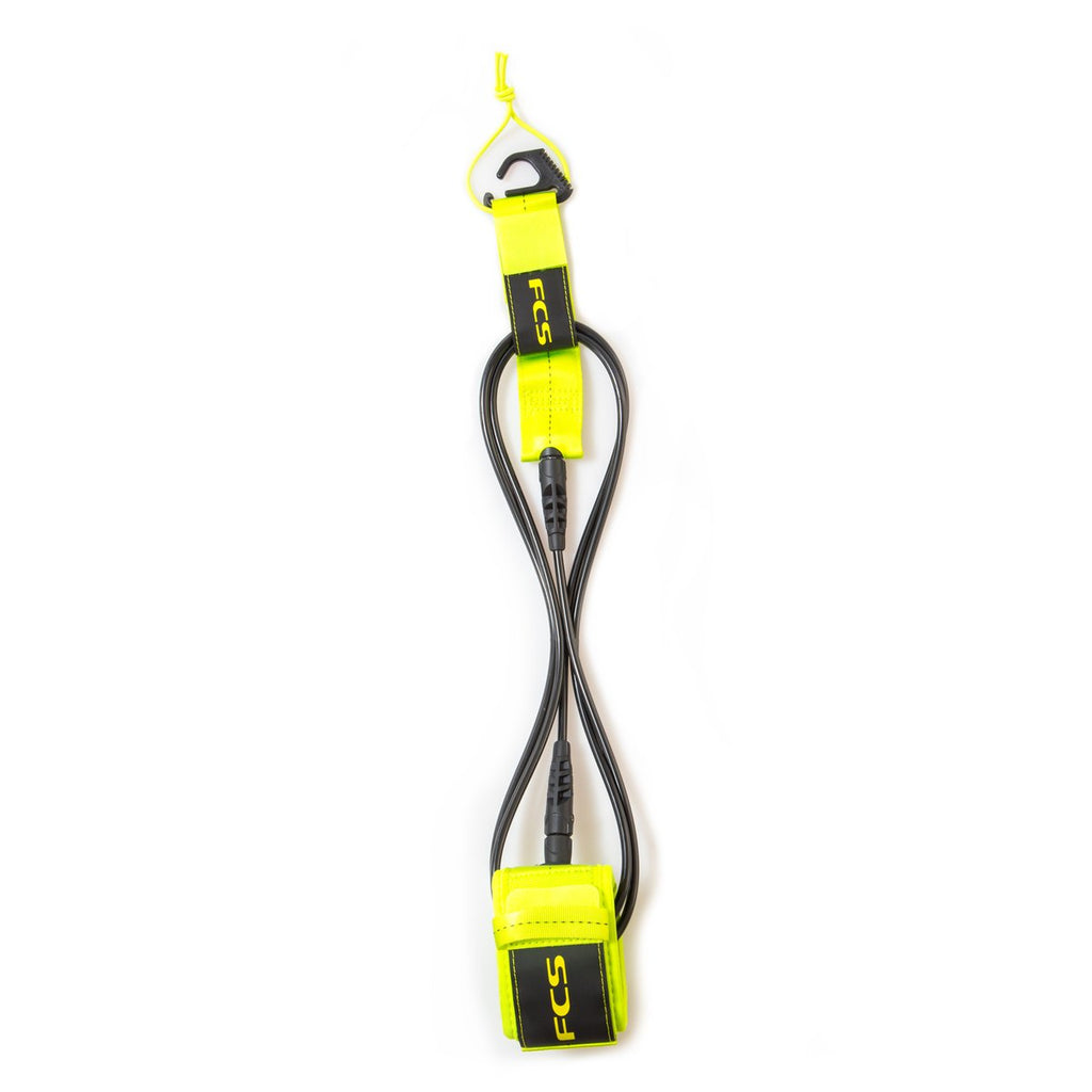 FCS Essential Regular Leash - Fluro Green